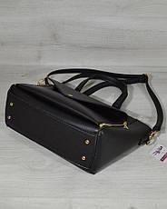 Женская удобная яркая и стильная сумка-клатч черного цвета 54501, фото 2