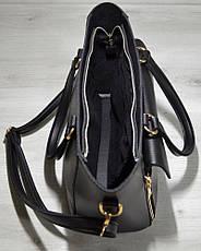 Женская удобная яркая и стильная сумка-клатч черного цвета 54501, фото 3