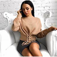 Женский свитер впереди на шнуровке (разные цвета)