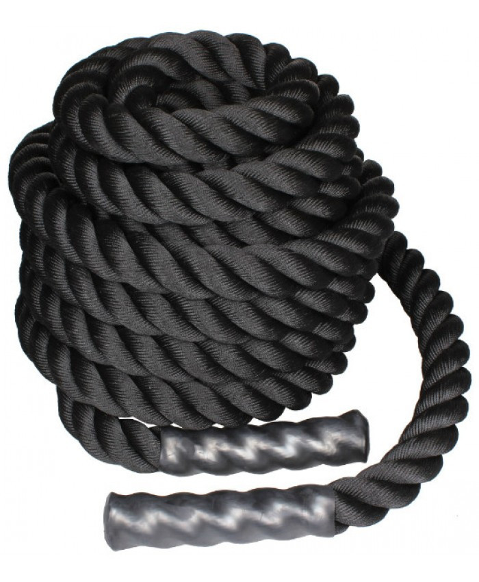 Канат для кроссфита 6 м BATTLE ROPE LS3676-6 black