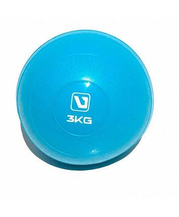 Медбол мягкий набивной 3 кг SOFT WEIGHT BALL LS3003-3, фото 2