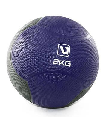 Медбол твердый 2 кг MEDICINE BALL LS3006F-2, фото 2