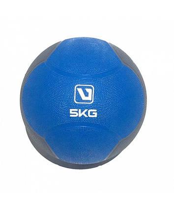 Медбол твердый 5 кг MEDICINE BALL LS3006F-5, фото 2