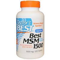 Doctor's Best, Best MSM 1500 (метилсульфонилметан), 1500 мг, 120 таблеток
