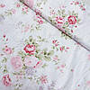 Сатин с букетами розовых пионов, ширина 160 см, в наличии с 15.08