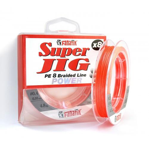 Шнур FANATIK Super Jig PE X8 120 м. (#1,5) 0,20мм. ORANGE