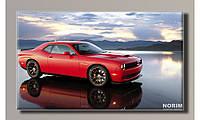 Картина на холсте Dodge Challenger (HAS-123)