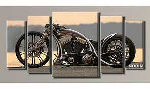 Модульная картина на холсте Harley-Davidson (HAB-017)