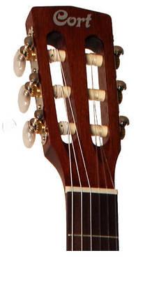 Класична гітара з вбудованим керамічним пьезозвукоснимателем CORT CEC1 (OP), фото 2