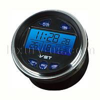 Автомобильные часы с подсветкой. Авточасы. VST 7042 V. Встроенный будильник вольтметр, термометр, календарь.