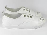 Женские белые кеды модные