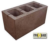 Блок строительный коричневый