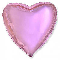 """Фольгированные шары без рисунка  18"""" сердце металлик розовое (FlexMetal)"""