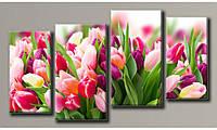 """Модульная картина на холсте """"Розовые тюльпаны 2"""" (HAF-116)"""