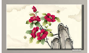"Картина на холсте  ""Цветы 18"" (HAS-343)"