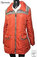 Женская куртка Marisota терракотовая демисезонная