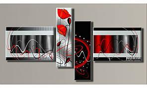 """Модульная картина на холсте """"Абстракция стиль 2"""" (HAF-063)"""