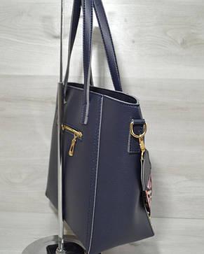 Женская стильная яркая Сумка – яркий ремень синего цвета 54303, фото 2