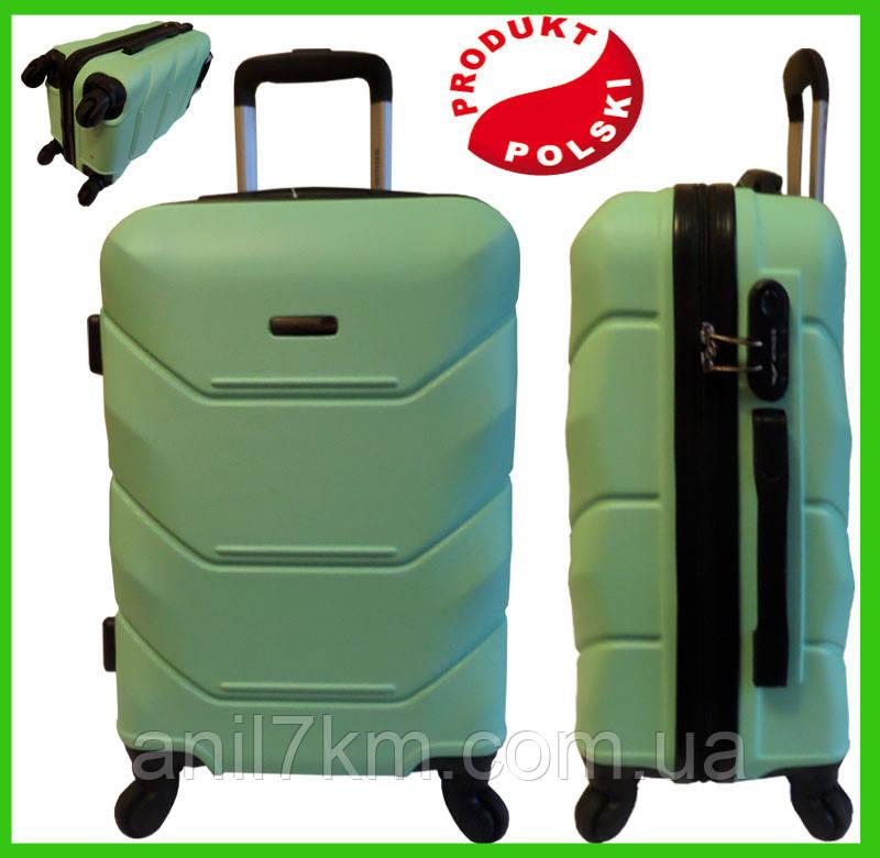 Середній ударостійкий валізу на чотирьох колесах