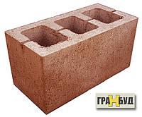 Блок строительный терракотовый