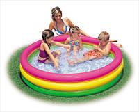 """Детский надувной летний бассейн """"Радуга"""" 114*25 см, Intex 57412 / надувной басейн"""