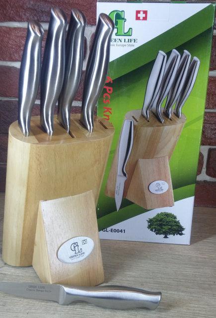 Набор ножей 6 в 1 GREEN LIFE GL-E0041