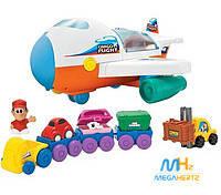 Детский грузовой самолет на батарейках музыка Keenway 12421