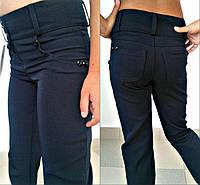 Школьные брюки для девочек синие модель 46511656