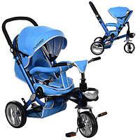 Детский трехколесный велосипед коляска Turbo Trike M AL3645-12 Blue