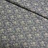 Сатин с мелкой бежевой розочкой на темно-сером фоне, ширина 160 см