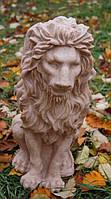 Скульптура из мрамора Лев сидит средний.