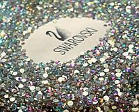 Стразы стеклянные AB, радужные 200 шт. в баночке (аналог Swarovski), ss4