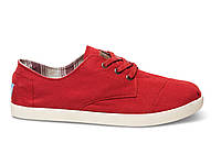 Мужские TOMS Red Canvas Men's Paseos, фото 1