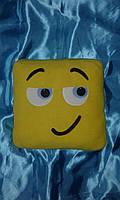 Подушка смайл Emoji 35 см квадратная viber