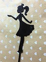 Топпера принцесска , в торт , пластиковая заготовка, фото 1