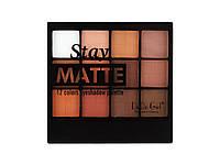 Матовые тени DoDo Matte Stay (12 цв ) (Палитра 3 шт. (№1,2,3) ) | 3018D