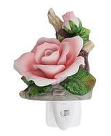 Фарфоровый ночник (светильник) Роза Pavone CMS - 16/ 3