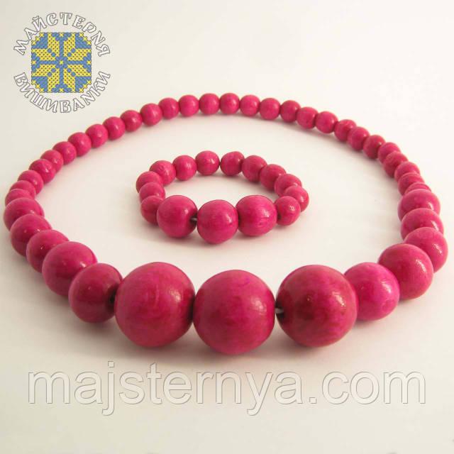 Купити намисто з браслетом рожевого кольору