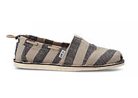 Мужские TOMS Black and Tan Stripe Men's Bimini Stitch-Outs