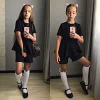Костюм школьный на девочку чёрный модель 29413797