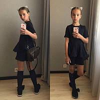 Костюм школьный на девочку тёмно-синий модель 29413798