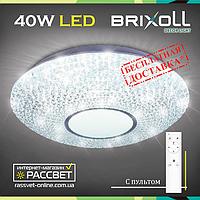 Потолочный светильник с пультом BRIXOLL BRX-40W-021 (Smart Light Shiny) 3000Lm