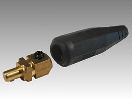 Кабельний зварювальний штекер (тато) 35-50мм?. Втулка 12,5 мм.