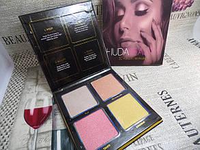 Палетка хайлайтеров Huda Beauty 3D Highlighter Palette