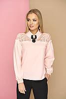 Нарядная женская блуза с брошкой 42,44,46р., фото 1