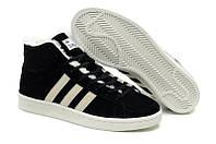 Кроссовки с мехом Adidas Winter Originals мужские черные