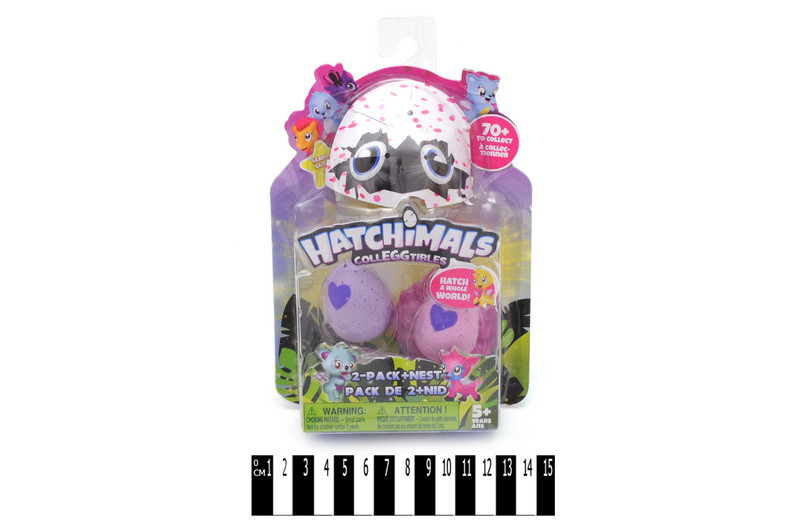 Коллекционные Фигурки в яйце аналог Хетчималс hatchimals (hatohinails), набор 2 яйца, Копия, 28362