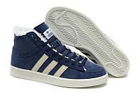 Кроссовки с мехом Adidas Winter Originals мужские синие