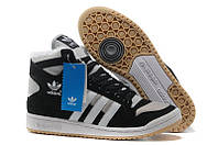 Кроссовки с мехом Adidas Winter Originals мужские черные с серым