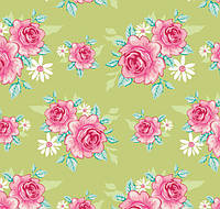 Ткань для рукоделия Tilda Rosy Green, 480118